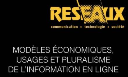 Modèles économiques, usages et pluralisme de l'information en ligne