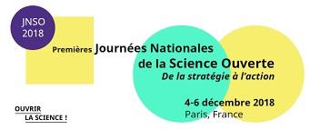 Premières Journées Nationales de la Science Ouverte les 4-6 décembre 2018